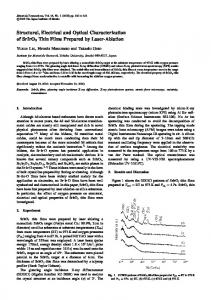 Thin Films Prepared by Laser-Ablation