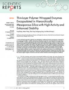 Thin-Layer Polymer Wrapped Enzymes Encapsulated in ... - Nature