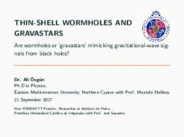 THIN-SHELL WORMHOLES AND GRAVASTARS