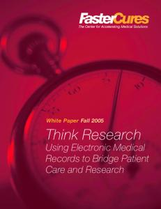 Think Research: Using Electronic Health Records to Bridge Patient ...