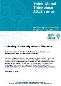 Thinking Differently About Difference - Eric