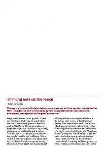 Thinking outside the fence - Forced Migration Review