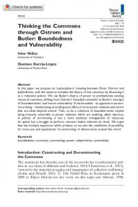 Thinking the Commons through Ostrom and Butler ... - SAGE Journals