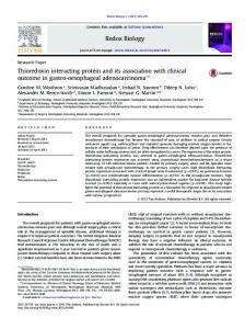 Thioredoxin interacting protein and its association ... - BioMedSearch