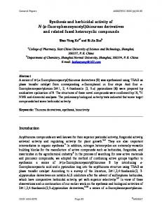 thioureas derivatives and related fused heterocyclic ... - Arkivoc