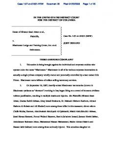Third Amended Complaint - Center for Constitutional Rights