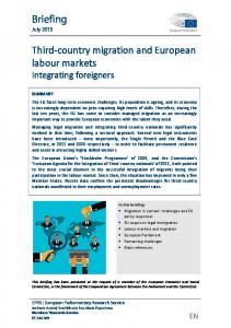 Third-country migration and European labour markets