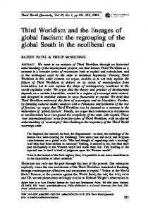 Third Worldism and the lineages of global fascism - Raj Patel