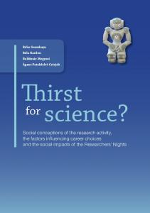 Thirst for science? - Regional Centre for Information and Scientific ...