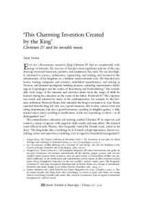 'This Charming Invention Created by the King' - danish yearbook of ...