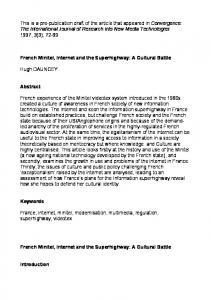 This is a pre-publication draft of the article that ...