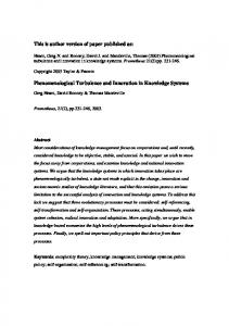 This is author version of paper published as ... - QUT ePrints