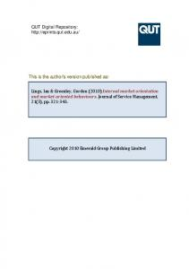 This is the author version published as: This is the ... - QUT ePrints