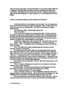 This is the largest section that I cut out of New ... - Stephenie Meyer