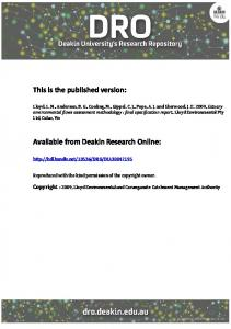 This is the published version: Available from Deakin Research Online: