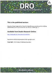 This is the published version: Available from Deakin Research ... - DRO
