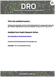 This is the published version: Available from ... - DRO - Deakin University