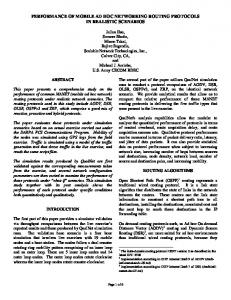 This paper presents a comprehensive study on the performance of ...