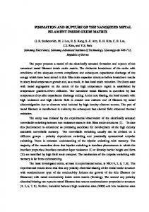 This paper presents an analytical model of the formation and