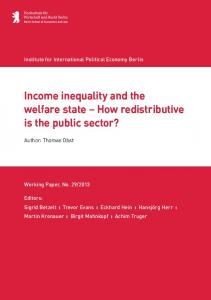 Thomas Obst, Income inequality and the welfare state - IPE Berlin