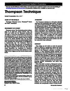Thompson Technique