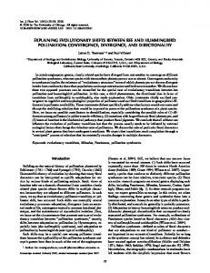Thomson Wilson shift in bee and hummingbird 2008 ... - Research Labs
