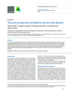 Thoracic perspective revisited in chronic liver disease
