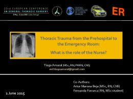 Thoracic Trauma from the Prehospital to the ...