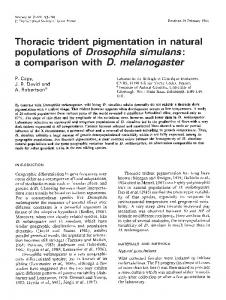 Thoracic trident pigmentation in natural populations of ... - Nature