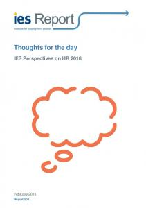 Thoughts for the day - Institute for Employment Studies