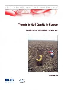 Threats to Soil Quality in Europe - CiteSeerX