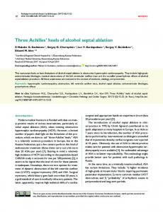 Three Achilles' heels of alcohol septal ablation