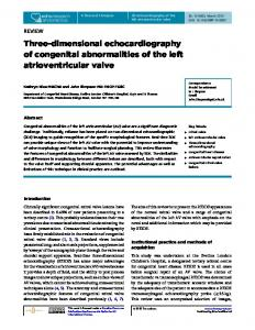 Three-dimensional echocardiography of congenital abnormalities of ...