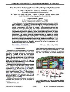 Three-dimensional electromagnetic model of the ... - APS Link Manager