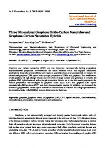 Three Dimensional Graphene Oxide-Carbon Nanotubes and