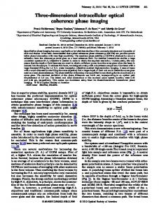 Three-dimensional intracellular optical coherence ... - OSA Publishing