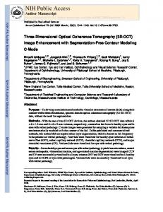 Three-Dimensional Optical Coherence Tomography (3D-OCT) Image ...