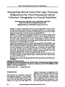 Three Dimensional Optical Coherence