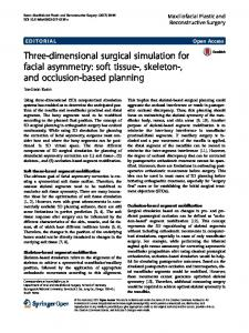 Three-dimensional surgical simulation for facial asymmetry: soft tissue ...
