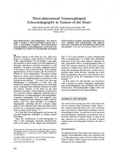 Three-dimensional Transesophageal Echocardiography in Tumors of ...