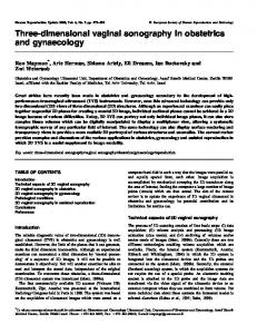 Three-dimensional vaginal sonography in obstetrics and gynaecology
