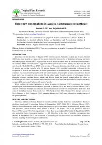 Three new combinations in Acmella (Asteraceae: Heliantheae)