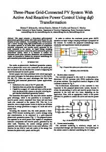 Three-Phase Grid-Connected PV System With ... - Semantic Scholar