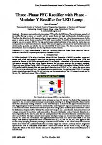 Three -Phase PFC Rectifier with Phase - Engg Journals Publications