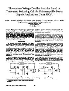 Three-Phase Voltage Doubler Rectifier Based on