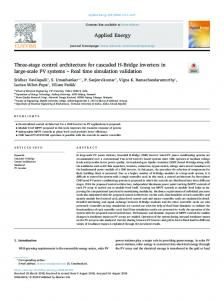 Three-stage control architecture for cascaded H-Bridge inverters in ...