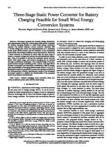 Three-Stage Static Power Converter for Battery ... - IEEE Xplore