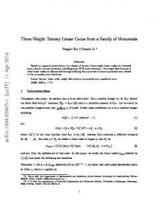 Three-Weight Ternary Linear Codes from a Family of Monomials
