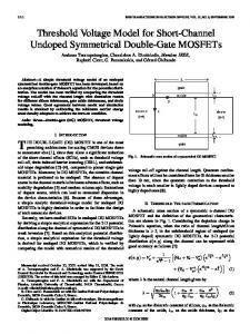 Threshold Voltage Model for Short-Channel Undoped ... - IEEE Xplore