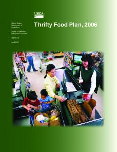 Thrifty Food Plan, 2006 - Center for Nutrition Policy and Promotion